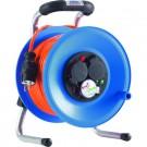 Kabeltrommel Kunststoff 40Meter H07BQ-F3G1,5qmm orange